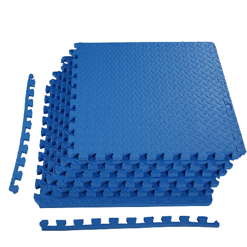 Blue Exercise Interlocking Tiles Mat