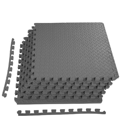 Grey Exercise Interlocking Tiles Mat