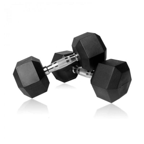 Rubber-hex-dumbell-pair