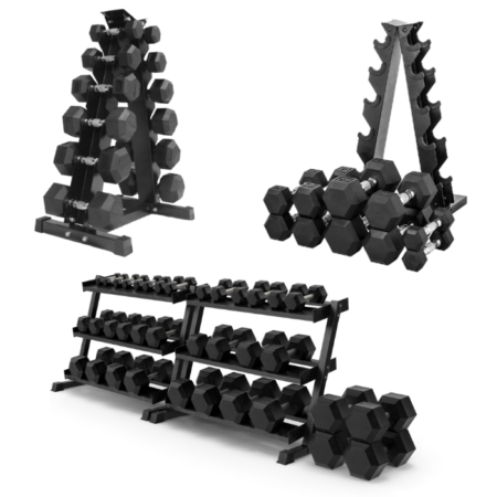 Home Gym Dumbbell Stack with Racks