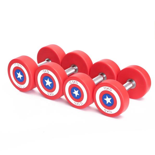 Captain America dumbbell