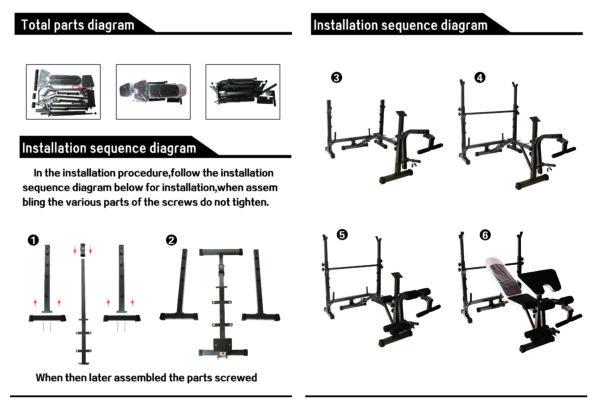 HAJEX Bench Assembling Instructions