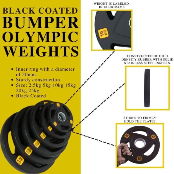 Black Coated Bumper Olympic Plate
