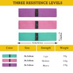 Three Levels Anti-Slip Booty Resistance Bands Set