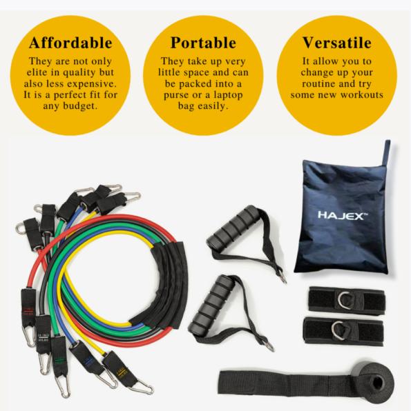 11pcs Latex Super Quality Resistance Bands Set Advantages