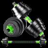 Adjustable Dumbbells Set Green 30kg