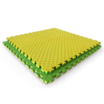 Double Layer Interlocking Sports Mat_Tile Green Yellow