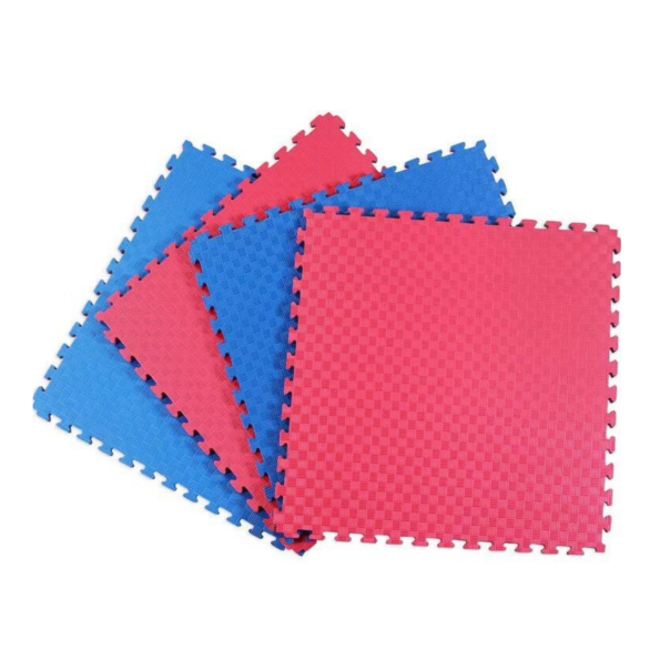 Double Layer Interlocking Sports Mat_Tile Red Blue