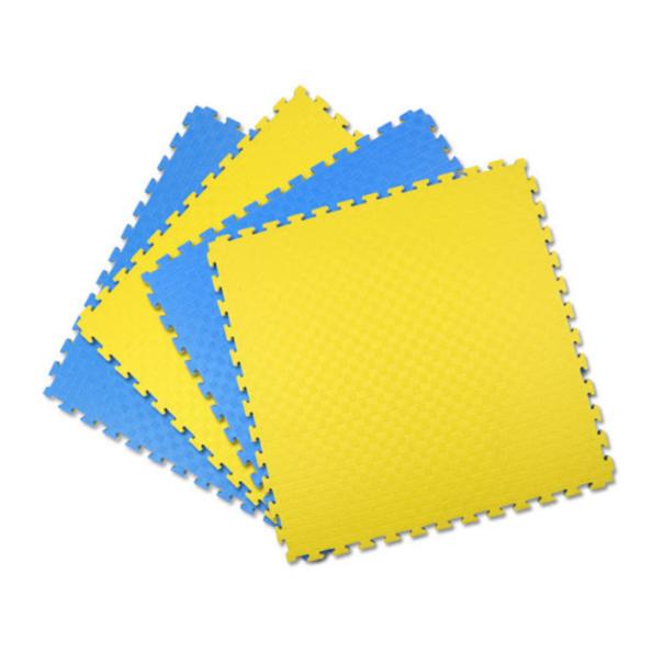 Double Layer Interlocking Sports Mat Yellow Blue