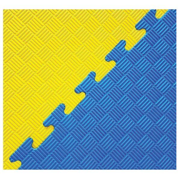 HAJEX Yellow Blue Double Layer Interlocking Sports Mat_Tile Perfect Thickness