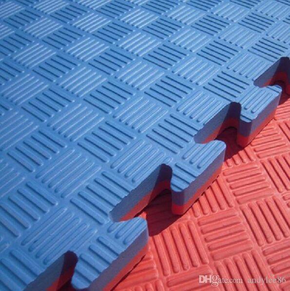 HAJEX HAJEX Double Layer Interlocking Exercise Gym Floor Mat Tiles, Extra Thick, Ultra Comfortable, Non-Toxic & Anti-Slip Exercise Mat
