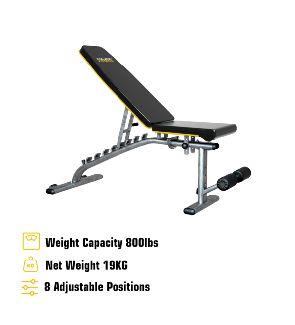 HAJEX Adjustable Exercise Bench for Home Gym