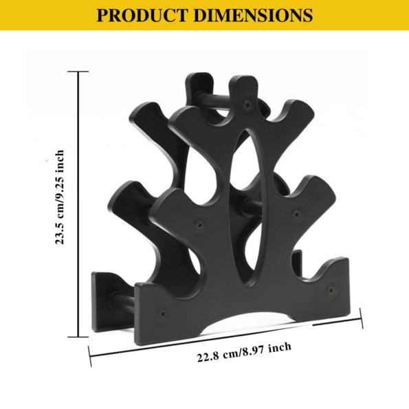 HAJEX Mini Dumbbell Tree Plastic Vertical Rack Stand for Gym