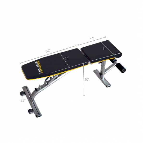 Workout bench dimensions