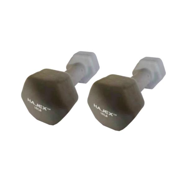 Color Neoprene Coated Exercise & Fitness Dumbbell 10LB Pair