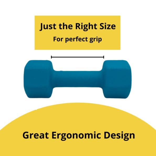 Neoprene Dumbbell Ergonomic Design